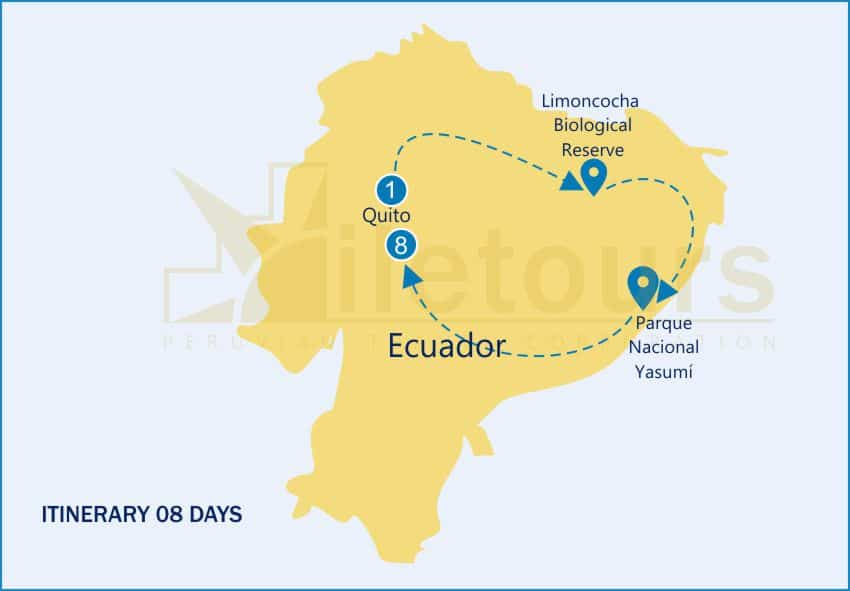 First Class River Cruiser Ecuador – 08 Days