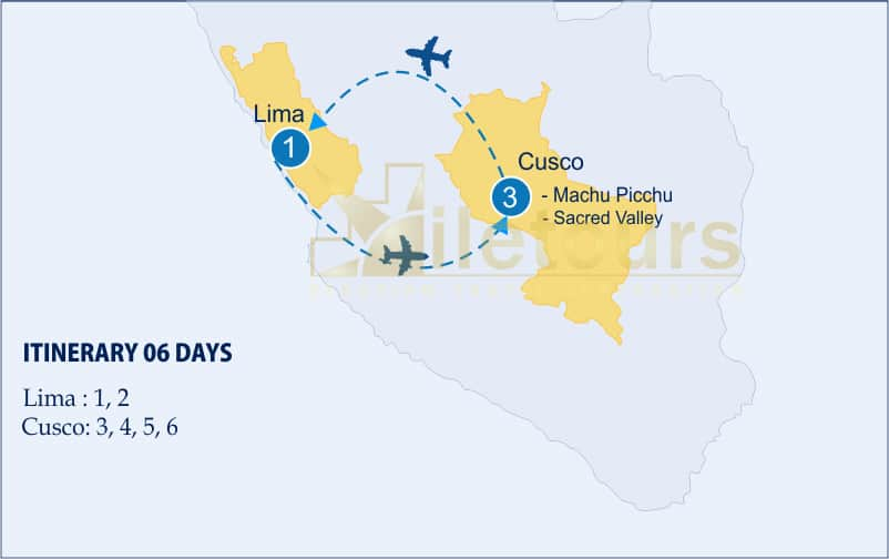 Travel Luxury, Lima, Cusco, Sacred Valley, Machu Picchu - Map