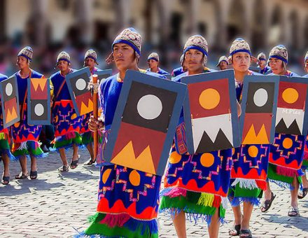 Staging places, festival of the sun Inti Raymi Cusco Peru