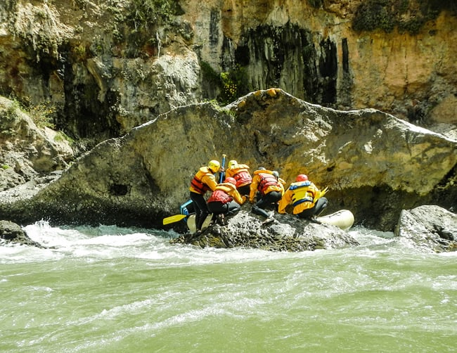 Rafting and Hiking in Waqrapukara Cusco Tours Peru Iletours