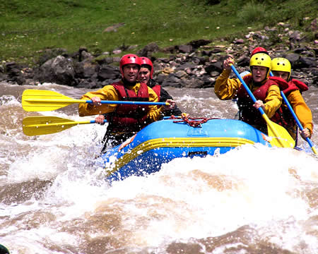 River rafting Cusco Peru