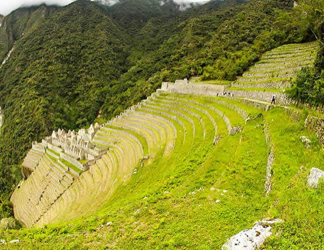 Luxury Inca Trail Cusco winay wayna ruins Peru