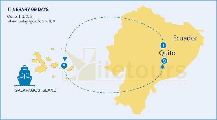 Galapagos, Quito, Otovalo, Cotopaxi, Quito