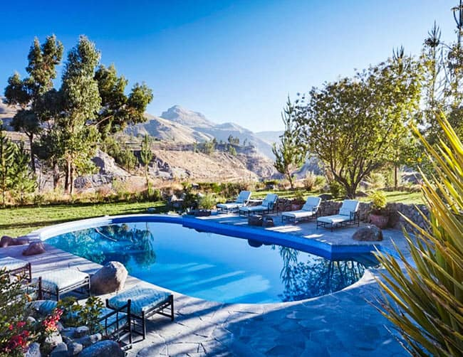 Belmond Luxury Hotel Pool Peru's Colca Canyon