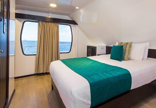 Alya Catamaran Galapagos Cruises twin cabin