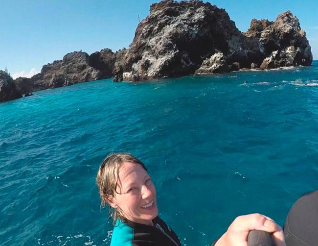 Floreana Island Galápagos, Corona del Diablo snorkeling