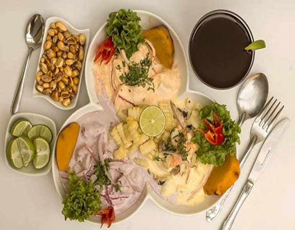 three peruvian ceviche lletours